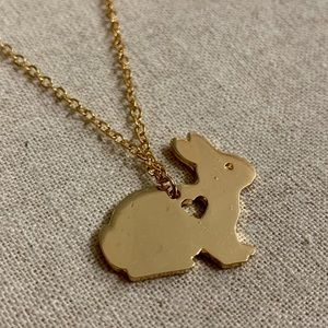 Gold Bunny Necklace